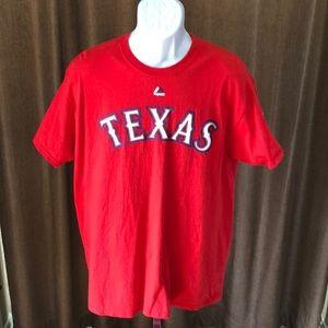 Men's Majestic Texas Rangers T-Shirt (Large)
